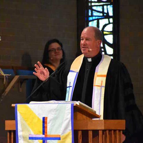 Rev. John Bell at Wellshire Church, Denver, Colorado