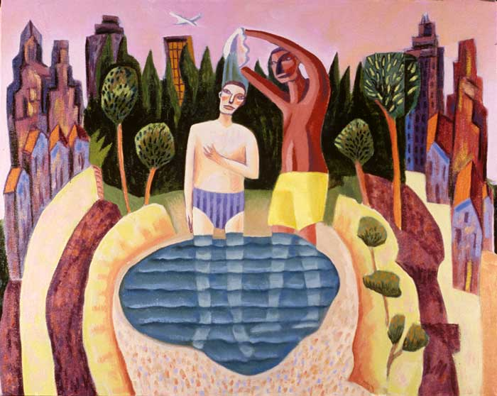 Baptism of Christ by James B. Janknegt. Sermon illustration for Jan. 12, 2020